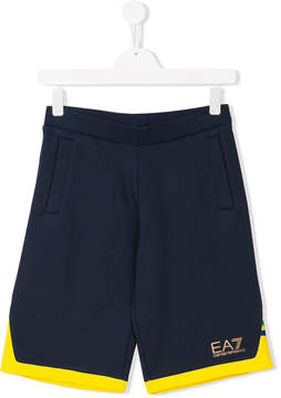 Emporio Armani Kids TEEN logo print Bermuda shorts
