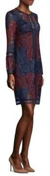 Laundry by Shelli Segal Two-Tone Venise Sheath Dress