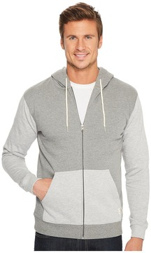 DC Rebel Contrast Fleece Zip Hoodie Men's Sweatshirt