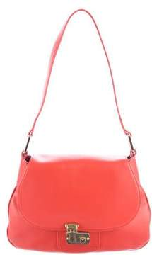 Michael Kors Leather Shoulder Bag - ORANGE - STYLE