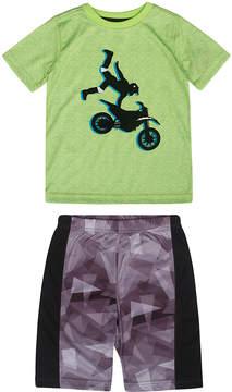 Petit Lem Lime Motorbike Pajama Set - Boys