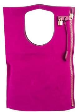 Tom Ford Alix Suede Fold-Over Bag