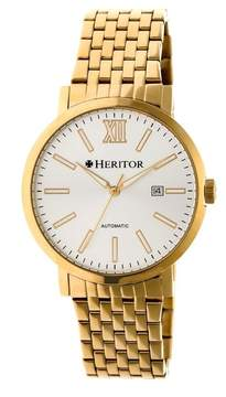 Heritor Bristol Silver Dial Gold-tone Automatic Men's Watch