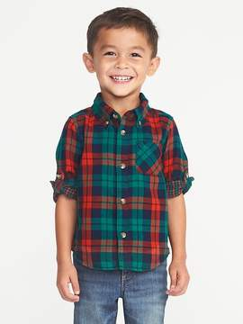 Old Navy Double-Weave Roll-Sleeve Shirt for Toddler Boys