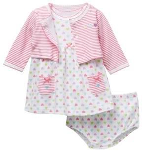 Little Me Heart Dress Set (Baby Girls)