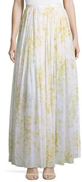 Brock Collection Sweet Pea Floral-Printed Full Cotton Skirt
