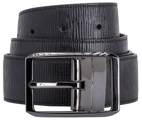 Bugatchi Men's Texture Leather Belt