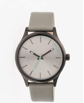 Simplify Mens The 2400 Charcoal Dial Leather-Band Watch SIM2403