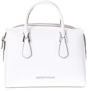 Emporio Armani Wilma White Faux Leather Hand Bag
