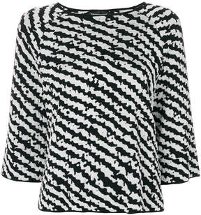 Emporio Armani patterned knit top