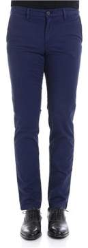 Trussardi Men's Blue Cotton Pants.