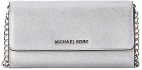 Michael Kors Jet Set Silver Leather Pochette - ARGENTO - STYLE