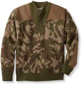 L.L. Bean L.L.Bean Commando Sweater, Camouflage Henley