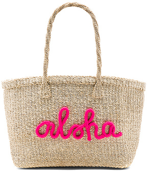 KAYU x REVOLVE Aloha Tote Bag in Beige.