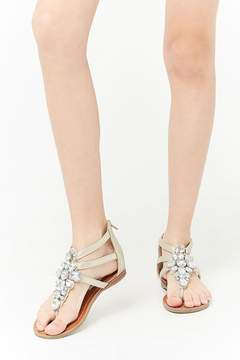 Forever 21 Girls Steve Madden Embellished Gladiator Sandals (Kids)