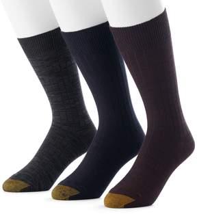 Gold Toe GOLDTOE Men's GOLDTOE 3-Pack Johnny Rib Dress Socks