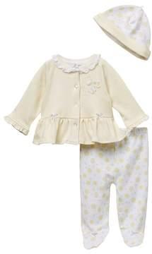 Little Me Bumblebee Cardigan & Hat Set (Baby Girls)
