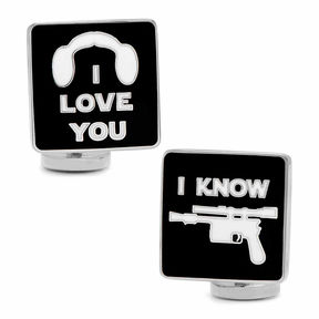 Asstd National Brand Star Wars I Love You I Know Icon Cuff Links