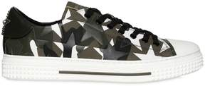 Valentino Camustars Leather & Canvas Sneakers