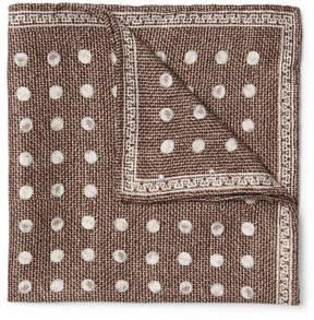 Brunello Cucinelli Polka-Dot Silk-Jacquard Pocket Square