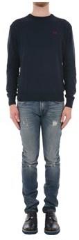 La Martina Men's Blue Acrylic Sweater.