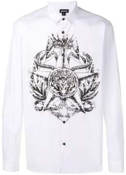 Just Cavalli crest print classic shirt