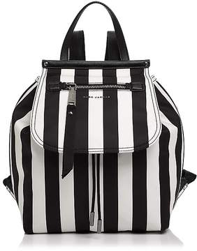 Marc Jacobs Trooper Striped Backpack - BLACK/WHITE/SILVER - STYLE