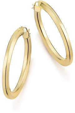 Bloomingdale's 14K Yellow Gold Faceted Tube Hoop Earrings - 100% Exclusive