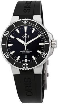 Oris Aquis Black Dial Automatic Men's Rubber Watch