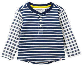Sovereign Code Intersection Striped Henley Shirt (Baby Boys)