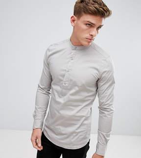 ONLY & SONS Skinny Smart Half Placket Grandad Shirt
