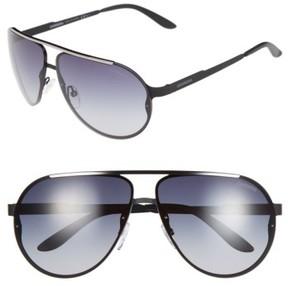 Carrera Men's Eyewear 65Mm Aviator Sunglasses - Matte Black/ Grey Gradient