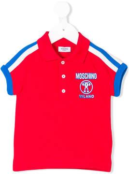 Moschino Kids logo polo shirt