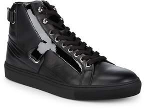 Versace Men's Scarpe Leather Hi-Top Sneakers
