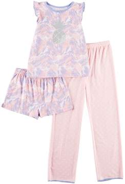 Jessica Simpson Big Girls 3-pc. Palm Pajama Set