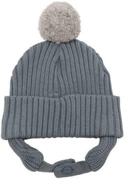 Stella McCartney Cotton & Wool Beanie Hat W/ Ear Flaps
