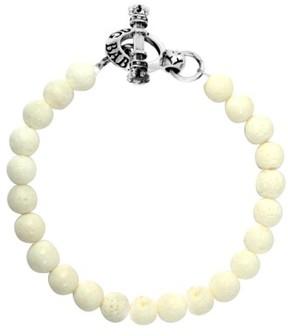 King Baby Studio Men's Coral Bead Bracelet