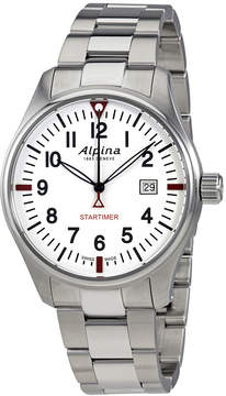 Alpina Startimer Pilot White Dial Men's Stainless Steel Watch