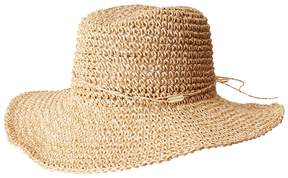 Steve Madden Crochet Cowboy Hat with Ties Caps