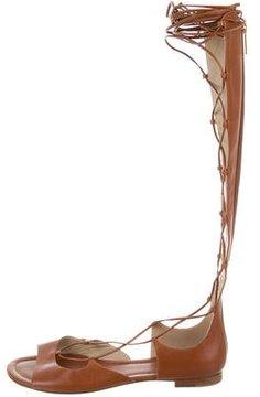 Michael Kors Lace-Up Leather Sandals