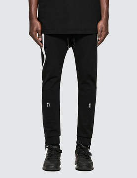11 By Boris Bidjan Saberi White Tape Logo Pants