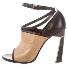 Derek Lam Metallic Leather Sandals