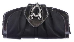 Giuseppe Zanotti Leather-Trimmed Satin Clutch