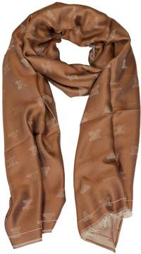 Max Mara Embroidered Logo Scarf
