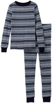 Joe Fresh Holiday Waffle Knit Pajama Set (Big Boys)