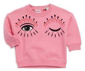 Kenzo Baby's Hi-Lo Eye Print Cotton Sweater