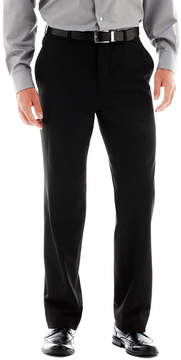 Jf J.Ferrar Men's JF Stretch Gabardine Flat-Front Straight-Leg Super Slim Suit Pants