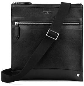 Aspinal of London Anderson Small Messenger Bag In Black Saffiano