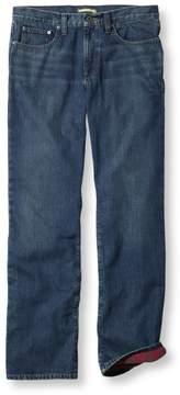 L.L. Bean Men's L.L.Bean 1912 Jeans, Standard Fit Flannel-Lined