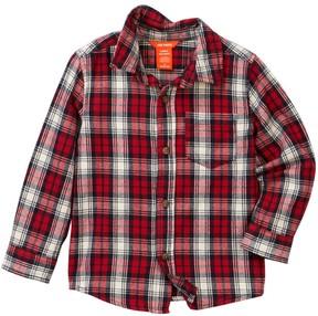 Joe Fresh Long Sleeve Plaid Flannel Shirt (Toddler & Little Boys)